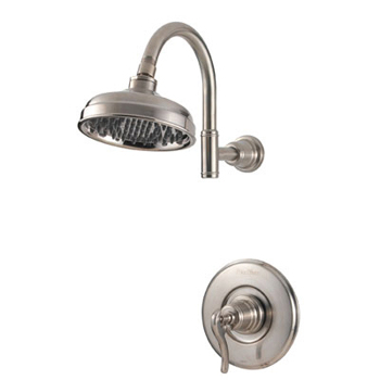 Price Pfister R89 7YPK Ashfield Single Handle Shower Trim Brushed Nickel. Pfister Faucets and Showers   FaucetDepot com