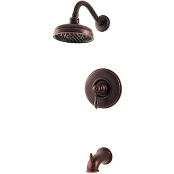 Price Pfister R89-8MBU Marielle Single Handle Tub/Shower Trim Rustic Bronze