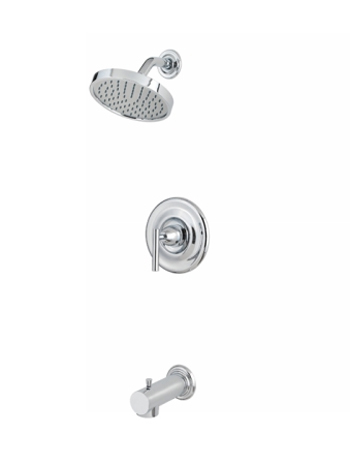 Price Pfister R89-8NC1 Contempra Single Handle Tub/Shower Trim Chrome