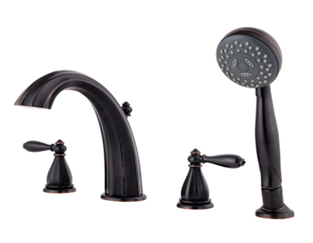 Price Pfister RT6-4RPY Portola Roman Tub Faucet Trim with Handshower Tuscan Bronze