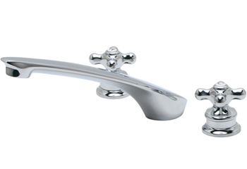 Price Pfister RT6-80XC Bedford Two Handle Roman Tub Faucet Trim Chrome (Less Handles)