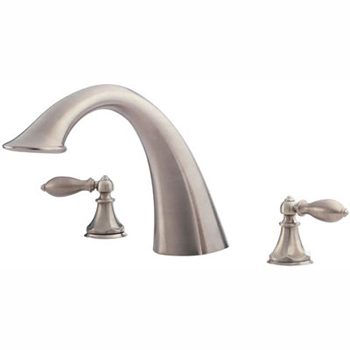 Price Pfister RT6-E0XK Catalina Roman Tub Faucet Trim Brushed Nickel (Less Handles)