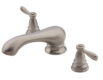 Price Pfister RT6-P0XK Portland Two Handle Roman Tub Faucet Trim Brushed Nickel (Less Handles)