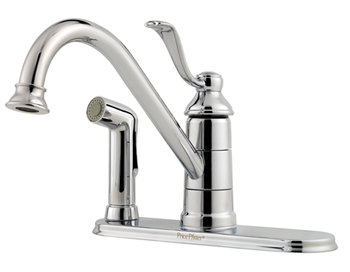 Price Pfister GT34-3PC0 Portland Single Handle Kitchen Faucet with Sidespray Chrome