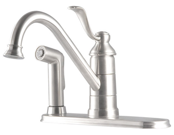Price Pfister GT34-3PS0 Portland Single Handle Kitchen Faucet with Sidespray Stainless Steel