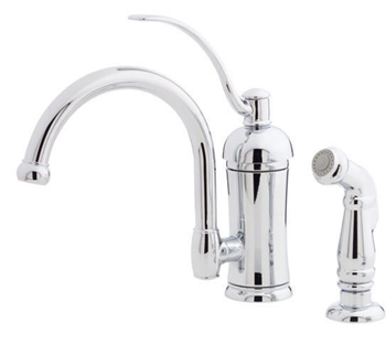 Price Pfister T34-4HAC Amherst Single Handle Kitchen Faucet with Sidespray Chrome