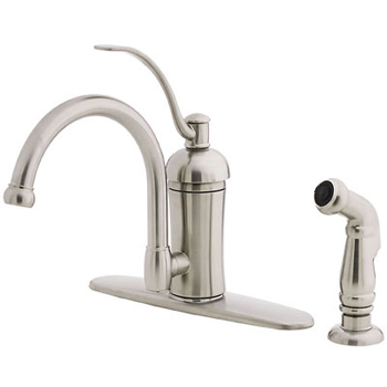 Price Pfister GT34-4HAS Amherst Single Handle Kitchen Faucet with Sidespray Stainless Steel