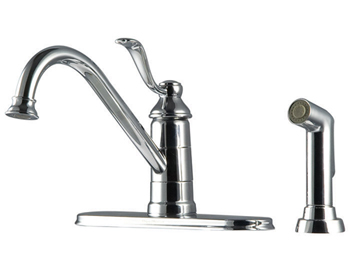 Price Pfister GT34-4PC0 Portland Single Handle Kitchen Faucet with Sidespray Chrome