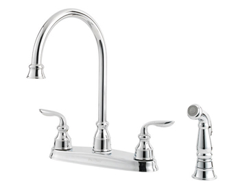 Price Pfister GT36-4CBC Avalon Two Handle Kitchen Faucet with Matching Sidespray Chrome