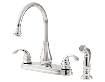 Price Pfister GT36-4DCC Treviso Two Handle Deckmount Kitchen Faucet with Sidespray Chrome