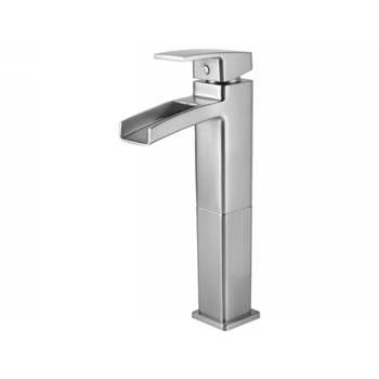 Price Pfister GT40-DF0K Kenzo Single Handle Lavatory Vessel Faucet Brushed Nickel