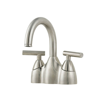 Price Pfister T48-NK00 Contempra Two-Handle Centerset Lavatory Faucet Brushed Nickel