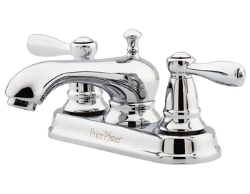 Price Pfister T48-PC00 Portland Two Handle Centerset Lavatory Faucet Chrome