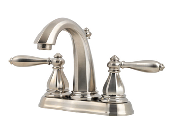Price Pfister T48-RP0K Portola Two-Handle Centerset Lavatory Faucet Brushed Nickel