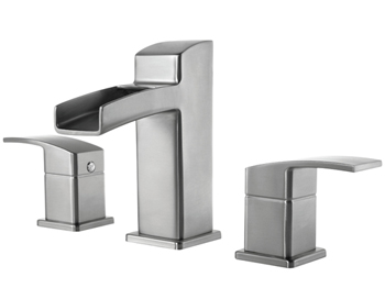 Price Pfister T49-DF0K Kenzo Widespread Lavatory Faucet Brushed Nickel