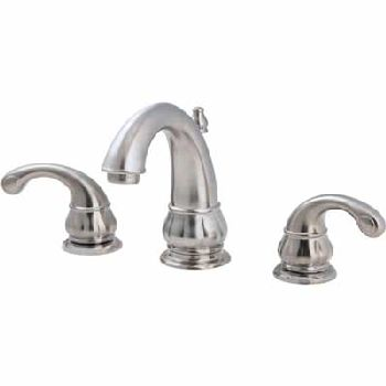Price Pfister GT49-DK00 Treviso Two Handle Widespread Lavatory Faucet Brushed Nickel
