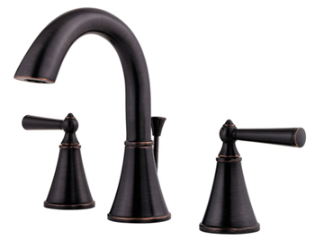 Price Pfister GT49-GL0Y Saxton Two-Handle Widespread Lavatory Faucet Tuscan Bronze