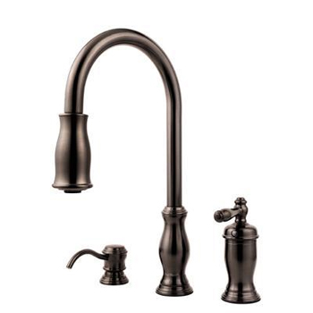 price pfister gt526 tmy hanover collection pull down kitchen faucet