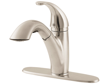 Price Pfister GT534 7SS Parisa Single Handle Pull Out Kitchen Faucet  Stainless S... Item Number: GT534 7SS Finish: Stainless Steel