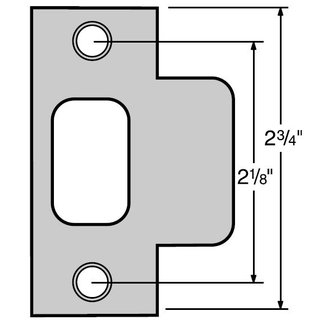 Kwikset 83028 Door T Strike - Bronze