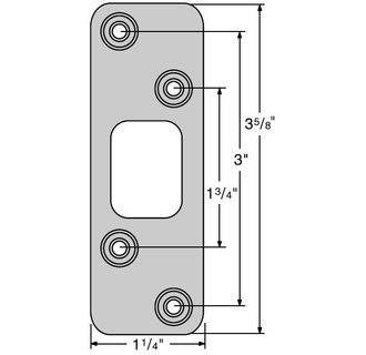 Kwikset 83223 Deadbolt Round Corner Strike - Satin Nickel