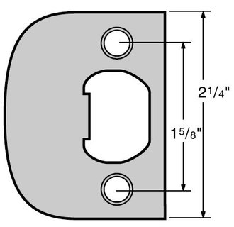Kwikset 83437 Full Lip Square Corner Strike - Satin Nickel