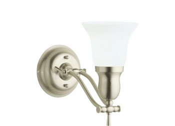 Robern MLLWFHBN Fairhaven Single Sconce  - Brushed Nickel