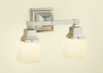 Robern MLLWSBNDD M Series Double Wall Sconce - Brushed Nickel