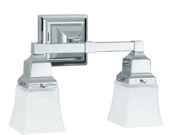 Robern MLLWSCHDD M Series Double Wall Sconce - Chrome