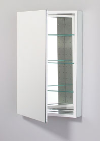 Robern PLM2030WB PL Series Flat Beveled Mirrored Door - White