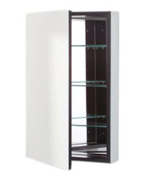 Robern PLM2430BB PL Series Flat Beveled Mirrored Door - Black