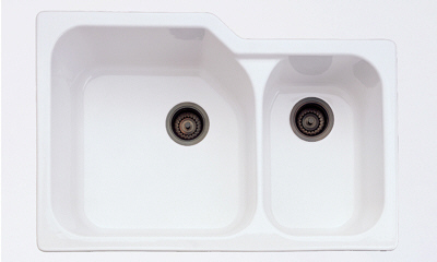 Rohl 6337-00 Allia Undermount Kitchen Sink - White