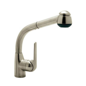 Rohl R7913STN de' Lux Side Lever Pull-Out Kitchen Faucet - Satin Nickel