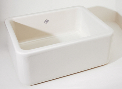 Rohl RC2418WH Shaw's Original Fireclay Apron Kitchen Sink - White