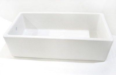 Rohl RC3618WH Shaws Original Fireclay Apron Front Kitchen Sink - White