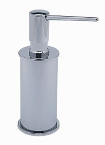 Rohl SD550A-STN Modern Luxury Collection Free-Standing Soap/Lotion Dispenser - Satin Nickel (Pictured in Polished Chrome)
