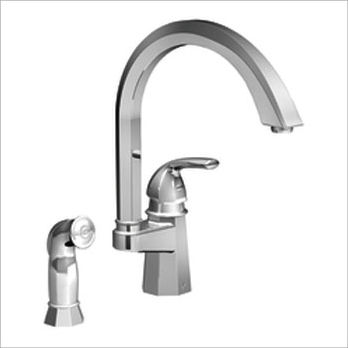 Moen ShowHouse S741CSL Felicity Single Handle Kitchen Faucet with Matching Side Spray - Classic Stainless