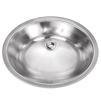 Schon SCSLB18 Premium 18 Gauge Dual-Mount Oval Lavatory Sink - Stainless Steel
