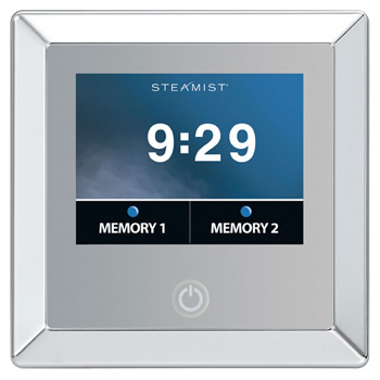 Steamist TSC-450-PC Digital Control with Touchscreen Operation and Contemporary Trim - Polished Chrome
