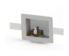 Specialty Products OB-405 Plastic Switch Hitter Outlet Box with Brass Simplex Valve - White