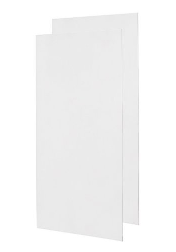 Swanstone SS-4896-2-010 Double Shower Wall Panel - White