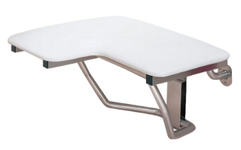 Swanstone BF-2300R-010 Barrier Free Folding Shower Seat for Right Wall Installation - White