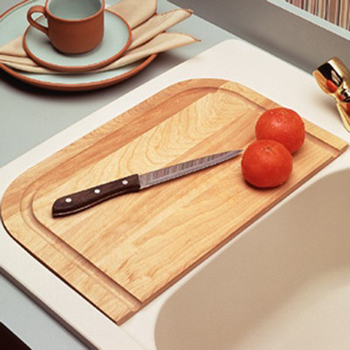 Swanstone CB-22-037 Cutting Board - Bone (Pictured in Wood)