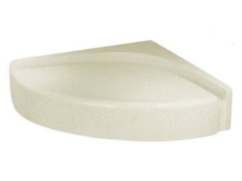 Swanstone CS-1616-037 Corner Shower Seat - Bone