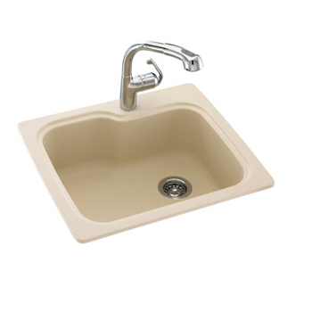 Swanstone kssb 2522 010 single bowl kitchen sink white for Swanstone undermount sinks