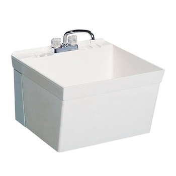 Swanstone MF-1W Wall Mount Laundry Tub - White