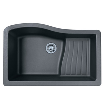 Swanstone QUAD3322-076 Granite Large Single Ascend Bowl Undermount Kitchen Sink - Granito ( Pictured in Nero )