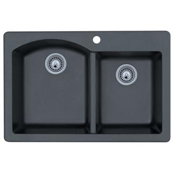 Swanstone Qzdb 3322 075 Granite Double Bowl Drop In