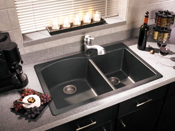 swanstone granite kitchen sink swanstone qzdb 3322 170 granite bowl drop in 5954
