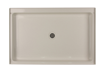 Swanstone R-3248-010 Single Threshold Shower Floor - White (Pictured in Bisque)